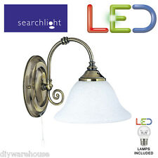 SEARCHLIGHT 9351-1 ANTIQUE BRASS LED 5.9W WALL BRACKET COMPLETE WITH SWITCH BNIB