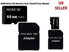 64GB Micro SD T Flash Memory Card Class 10 With Free Adapter For Mobiles Phone