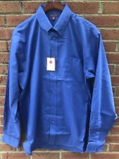 $70 RED HOUSE MENS COTTON DK BLUE CLASSIC OXFORD DRESS SHIRT 4XLT 4XL XXXXL TALL
