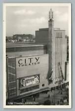 "City Theater AMSTERDAM Movie Marquee ""Episode"" RPPC Vintage Photo~1960s"