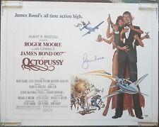 ROGER MOORE Signed JAMES BOND 007 OCTOPUSSY Movie Poster (22x28) PSA/DNA COA