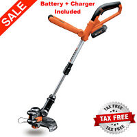 "Worx 10"" 20V Li-ion Cordless Powerful Grass Weeds Lawn Trimmer Edger Weed Eater"
