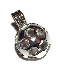 Soccer Ball Bead Cage Pendant Fits 8.5mm Bead or Pearl - Football Bead Cage