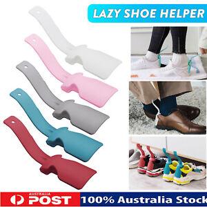2PCS Lazy Shoe Helper Handled plastic Shoehorn Portable Sock Slider For Unisex
