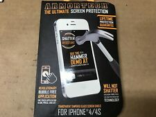ArmorTech The Ultimate Tempered Glass Screen Protector Shield iPhone 4 4s