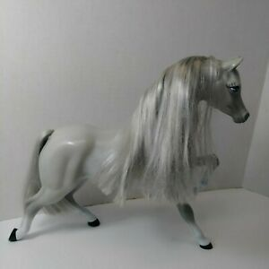 Barbie Gray Horse with Silver Mane & Tail Genuine Mattel