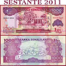 SOMALILAND -  1.000 1000 SHILLINGS 2011  -  P 20   -    FDS / UNC