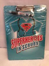 SUPERHEROS IN SCRUBS *Brand New* Clip Board & Ink Pen Nurses Doctors