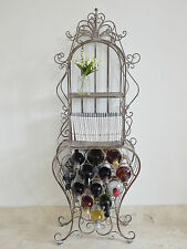 VINTAGE FRENCH FREE STANDING WINE RACK LARGE BOTTLE HOLDER STORAGE SHABBY CHIC