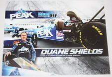 2016 Duane Shields Peak Antifreeze Top Alcohol Dragster Nhra postcard