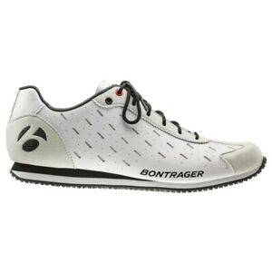 Bontrager Cycling Podium Shoes Euro 44 US Size 11 White Leather Suede Lace Up