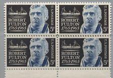 USA 886 4erBl 200. Geb. Robert Fulton Erbauer 1. dampfgetriebenes Handelsschiff