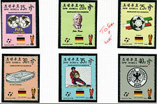 KOREA 1990 ITALY FOOTBALL WORLD CUP SET OF ALL 6 COMMEMORATIVE STAMPS MNH