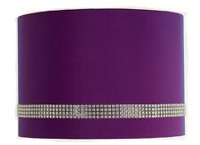"12"" Diamante Faux silk Taffeta Drum Ceiling Light / Pendant / Table Lampshade"