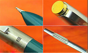 Silver and green fountain pen very fine nib Hero 329