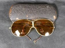 Vtg Rare Auto-Glas Sunglasses Aviator Style Case Hinged Wire Frame Pat.May 2,11