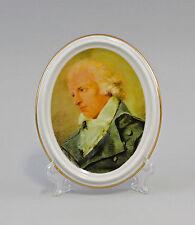 Porzellan Wandmedaillon Bildplatte Porträt Schiller Kämmer 14x17cm 9988345
