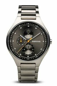 Bering Titanium Brushed Silver Link Watch 11741-702