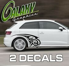 Tribal Car Door Flames / Body Decals (x2) Truck JDM Import Vinyl Sticker (#2)