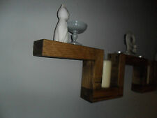 Chunky Golden Oak Wall Mounted Shelf Handmade From Reclaimed Timber Country Chic