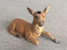 Antique Metal Deer Figurine, Germany, Missing Horns