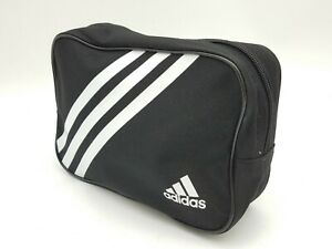 """Adidas Zippered Small Travel Black White 7.5""""L  Athletic Team Carry-All Storage"""
