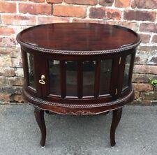Wooden Coffee Table Display Leg Cabinet 2 Door Led Glass-SiT-MOEBEL-GERMANY-£500