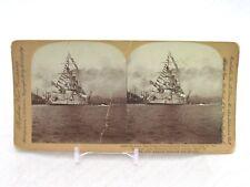Vtg Keystone Stereoview Card 14505 Russian Battleship Petropavlovsk Sunk In 1904