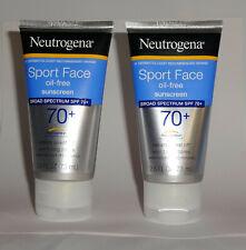 2 pcs SportFace Oil-Free Lotion Sunscreen Broad Spectrum Spf 70+ 3oz Exp 09/2021