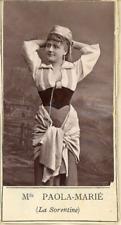 Paola Marié, Chanteuse lyrique, opéra bouffe  Vintage print.   Photoglyptie