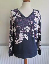 PHASE EIGHT Blue White Floral Print Top NEW  Size 10