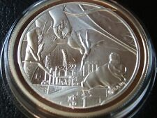 1 OZ SILVER 2003 NEW ZEALAND $1 LORD OF THE RINGS FRODO OFFERING RING TO NAZGUL
