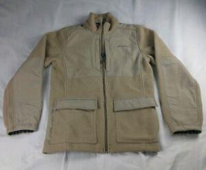 Eddie Bauer Men S Parka Coat Beige  Zipout Hood Poly Cotton Jacket A+ Cond $174