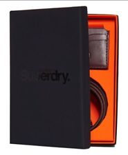 Superdry Premium Medium Leather Belt And Cardholder Gift Set - Brown BNWT