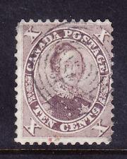 Canada COLONIA 1859 SG36 10 C Marrone-FINE USATO-Little fuori centro. catalogo £ 80