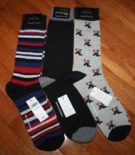 3 Pair NEW NWT Mens Banana Republic Casual Dress Socks Blue Stripe Reindeer *6K