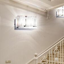 2 x applique luminaire mural design verre chrome cubes cristal salle de bains