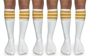 Jefferies Socks Boys Girls Stripe Vintage School Knee High Tall Tube Socks 3 PK