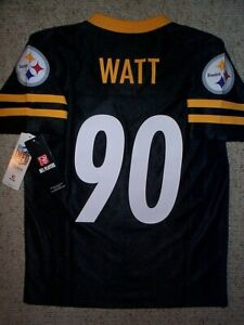 (2020-2021) Pittsburgh Steelers TJ WATT nfl Jersey YOUTH KIDS BOYS (m-med-medium