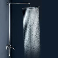 Stainless Steel Square Chrome 8'' 10'' 12'' Rainfall Shower Head Top Spray