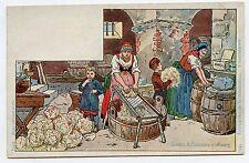 P. KAUFFMAN. Usages & Costumes d'Alsace . 19. Fabrication de la choucroute