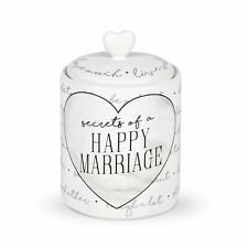 Enesco Our Name Is Mud Wedding Happy Marriage Wish Jar and Heart Paper Set