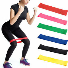 6Pcs Elastic Resistance Loop Bands Exercise Yoga Fitness Gym Training Tube Set