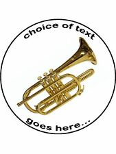 Cornet music instrument Personalised Edible Cake Topper Wafer Icing Decoration