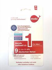 Prepaid Sim Karte Mobi mit 7,50 € Startguthaben Vodafone Anrufe Weltweit ab 1Ct.