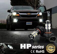 2x 50W H10 9145 CREE 6000K Super White High Power LED Fog Lights Bulbs 1 pair
