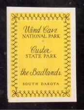 1934 Wind Cave and Badlands National Parks, South Dakota Poster Stamp