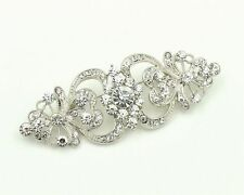 Vintage Style Bridal Wedding Bouquet Shiny Diamante Brooch Pin BR296