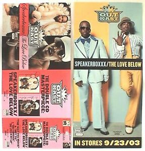 "OUTKAST ""SPEAKERBOXXX/THE LOVE BELOW"" 2-SIDED U.S. PROMO CARDBOARD POSTER/BANNER"