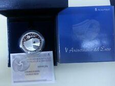 Año 2007. 10 EUROS DE PLATA. ESPAÑA. PUENTE. V Aniversario del Euro.